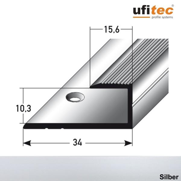 ufitec® Einschubprofile / Abschlussprofile - für Belagshöhen von 10,3 mm - Alu eloxiert