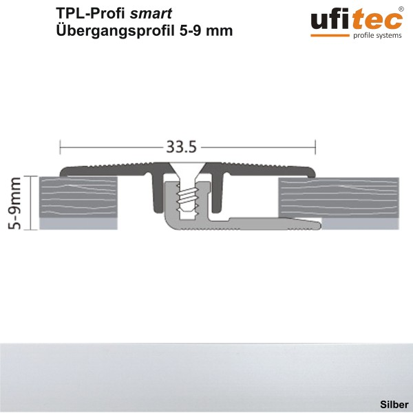 ufitec® TPL Profi smart Übergangsprofil - Dehnungsfugenprofil für Belagshöhen von 5-9 mm