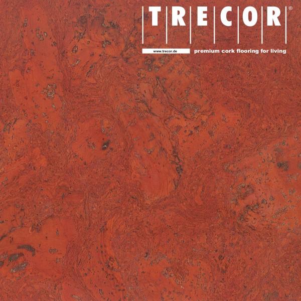 """TRECOR® Korkboden mit Klicksystem """"VARESE"""" Korkfertigparkett - 10,5 mm Stark - Farbe: Korallenrot"""