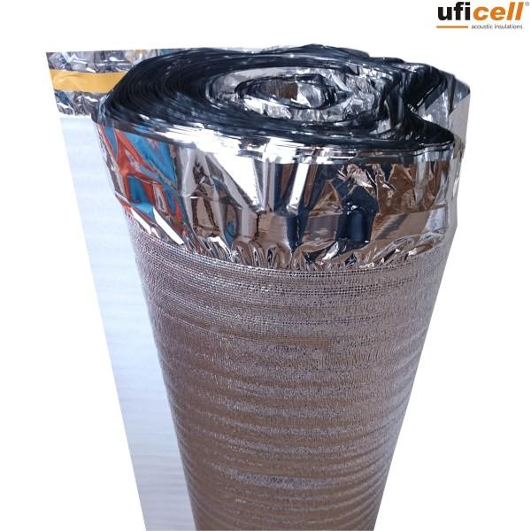uficell® ALUPLUS | PE-Schaum Trittschalldämmung mit Alu-Kaschierung perfekt für Fußbodenheizung