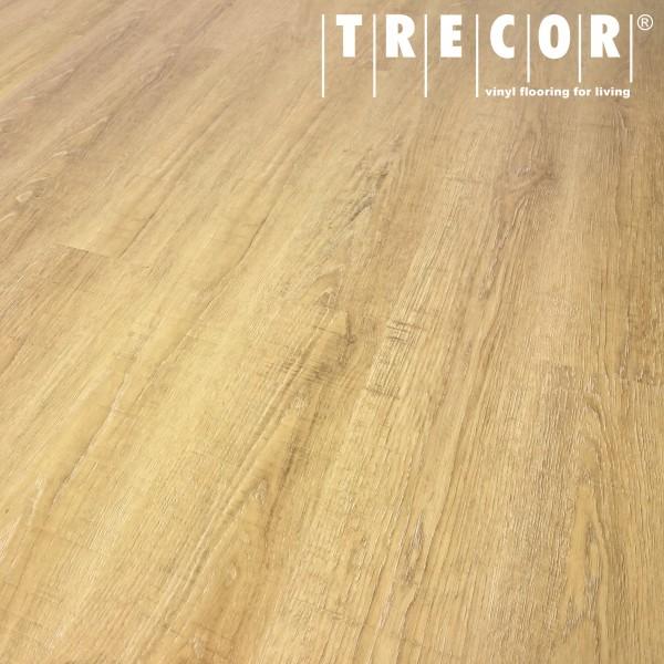 TRECOR® Vinylboden - Klebevinyl Eiche gekalkt Landhausdiele (1 Stab) mit micro V-Fuge - 2 mm