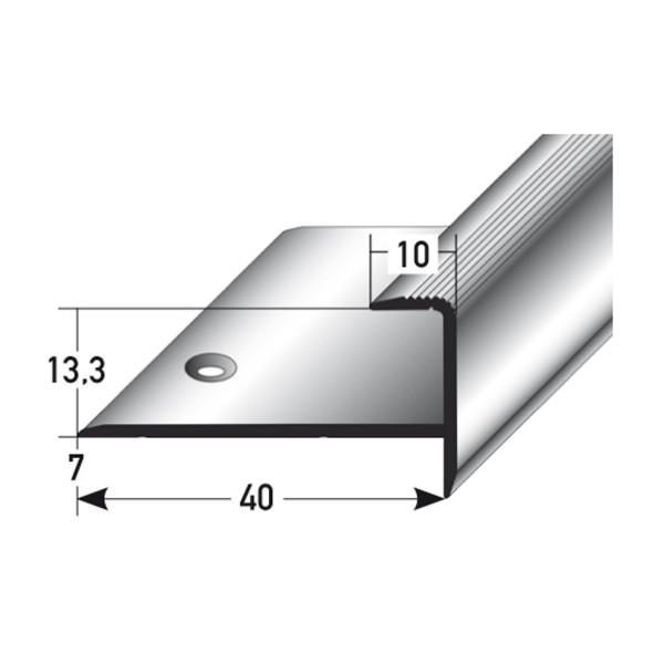 ufitec® Einschubprofil für Belagshöhen bis 13,3 mm mit 7 mm Nase Treppen-/Stufen Abschlussprofi