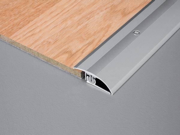 TRIFLOOR FINISH | 3 tlg. Schraubbares Höhenausgleichsprofil aus Aluminium mit Omega-Wippfunktion