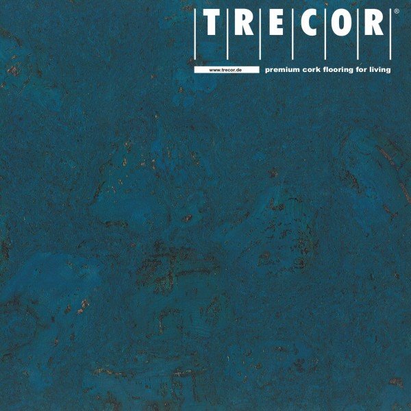 "Korkboden TRECOR® CLASSIC ""Klebekork ""FRAMENTO"" Stärke: 4 mm, Oberfläche: ROH - Farbe: Signalblau"