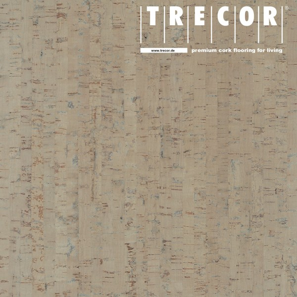 "TRECOR® Korkboden mit Klicksystem ""MAZARA"" Korkfertigparkett - 10,5 mm Stark - Farbe: Kieselgrau"