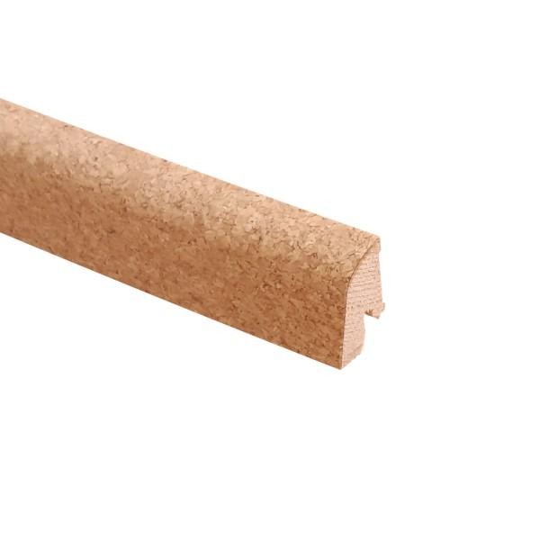 TRECOR® Korksockelleiste Kork-FEIN, Fußleiste, Sockelleiste Kork, Format: 19 x 38 mm