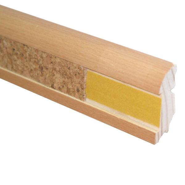 TRECOR® Designleiste mit Ausfräsung, Holz Sockelleiste, furniert, Echtholzummantelt, 22 x 45 mm