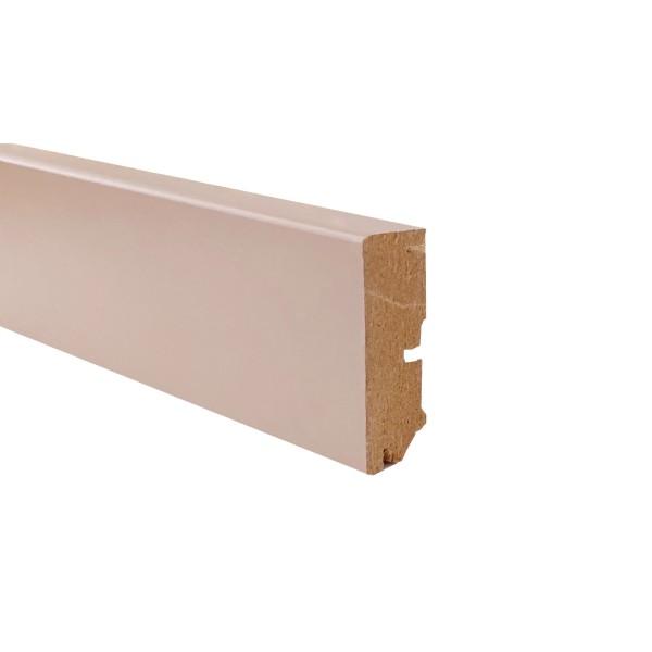 TRECOR® Sockelleiste Laminatsockelleiste Fußleiste Serie EXCLUSIV COLOR 16 x 58 mm, Graubeige