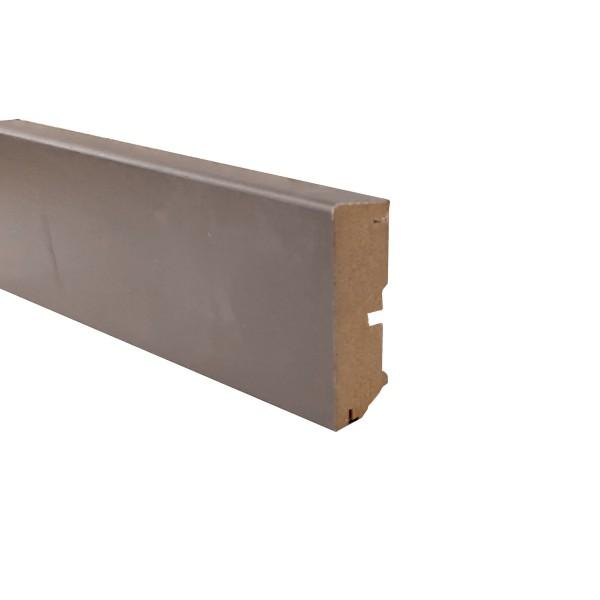 TRECOR® Sockelleiste Laminatsockelleiste Fußleiste Serie EXCLUSIV COLOR 16 x 58 mm, Beigegrau