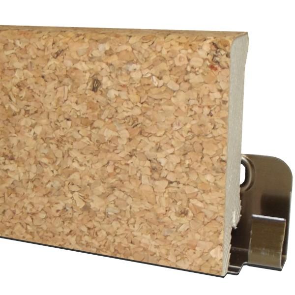 "TRECOR® Korksockelleiste ""Fein"" mit Echtkorkoberfläche, Höhe: 60 mm, Tiefe: 16 mm, Länge: 250 cm"