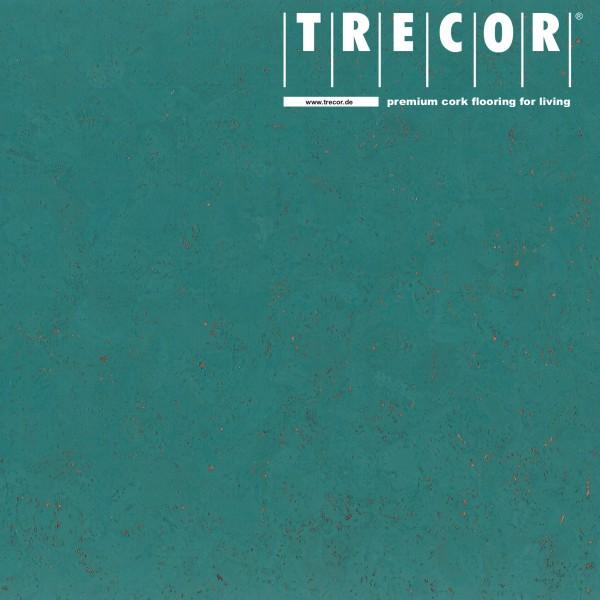 "TRECOR® Korkboden mit Klicksystem ""EVORA"" Korkfertigparkett - 10,5 mm Stark - Farbe: Mintürkis"
