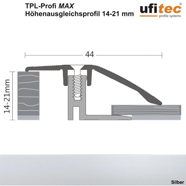 ufitec® TPL Profi max Höhenausgleichsprofil / Niveauausgleichsprofil - für Belagshöhen von 14-21 mm