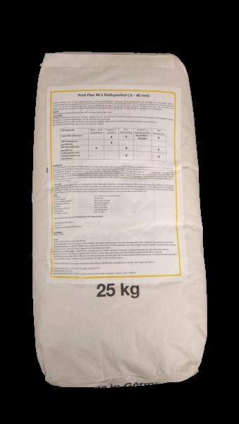 Niveliermasse PROFI PLAN 40 S Fließspachtel- Ausgleichsmasse grau für Schichtstärken von 1-40 mm