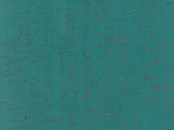 Korkboden TRECOR® CLASSIC Klebekork MAZARA Stärke: 4 mm, Oberfläche: ROH - Farbe: Minttürkis