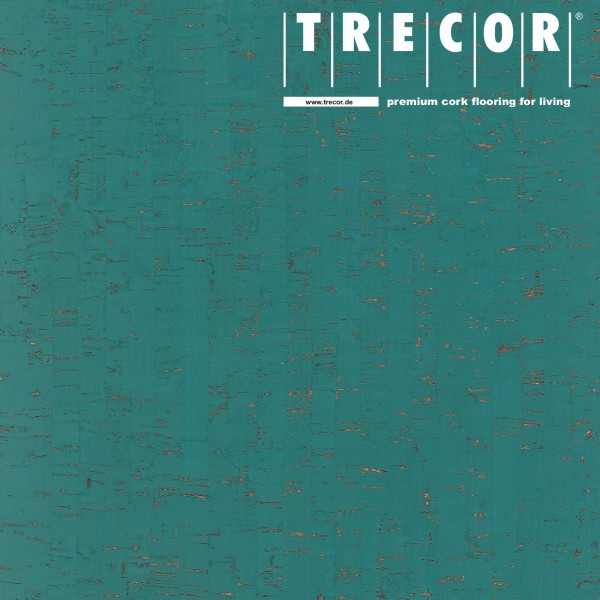 "Korkboden TRECOR® CLASSIC ""Klebekork ""MAZARA"" Stärke: 4 mm, Oberfläche: ROH - Farbe: Minttürkis"