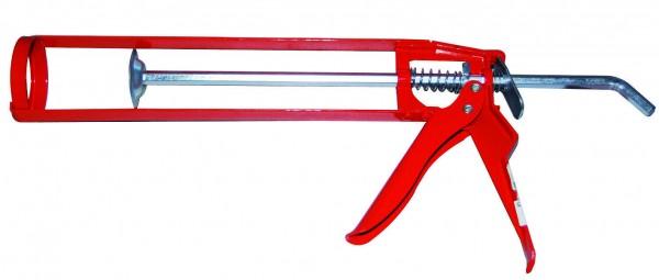 Silikonpresse Kartuschenpresse Schubpistole Skelettpistole Dichtstoffpresse ROT