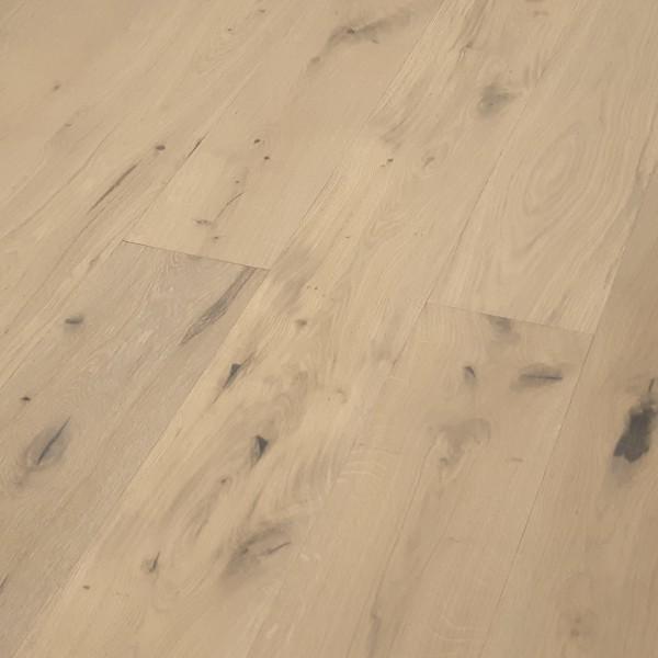TRECOR® Parkett 3-Schicht Landhausdiele Eiche Rustikal gebürstet RUBIO R330 Vanilla endgeölt, G5