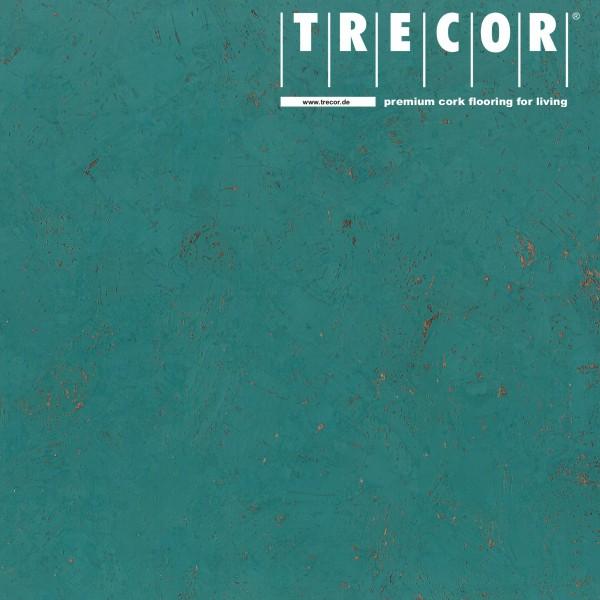 "Korkboden TRECOR® CLASSIC ""Klebekork ""FORTI"" Stärke: 4 mm, Oberfläche: ROH - Farbe: Minttürkis"