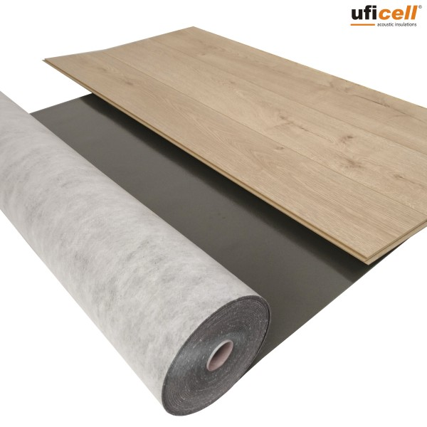 uficell® Silence Floor Akustik ALU - Trittschalldämmung mit Quarzsandfüllung für beste Raumakustik