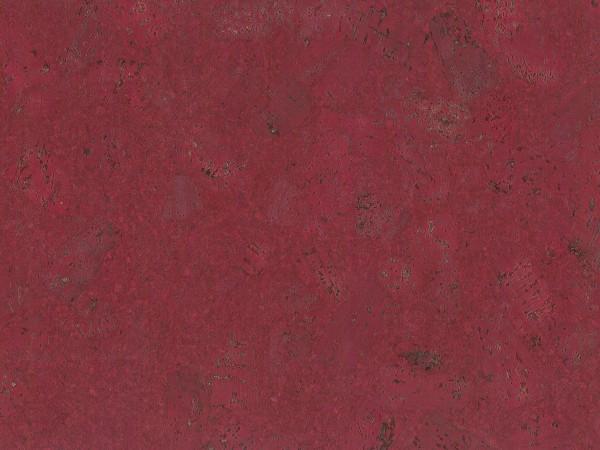 Korkboden TRECOR® CLASSIC Klebekork FORTI Stärke: 4 mm, Oberfläche: ROH - Farbe: Purpurrot