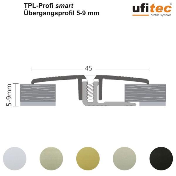 ufitec® TPL Profi smart Übergangsprofil / Dehnungsfuge für Belagshöhen von 5-9 mm, Breite: 45 mm