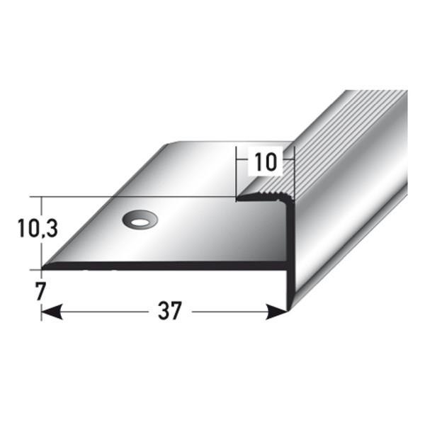 ufitec® Einschubprofil für Belagshöhen bis 10,3 mm mit 7 mm Nase Treppen-/Stufen Abschlussprofil