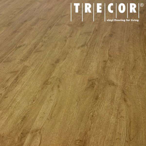 TRECOR® Vinylboden - Klebevinyl Eiche Natur Landhausdiele (1 Stab) mit micro V-Fuge - 2 mm Stark