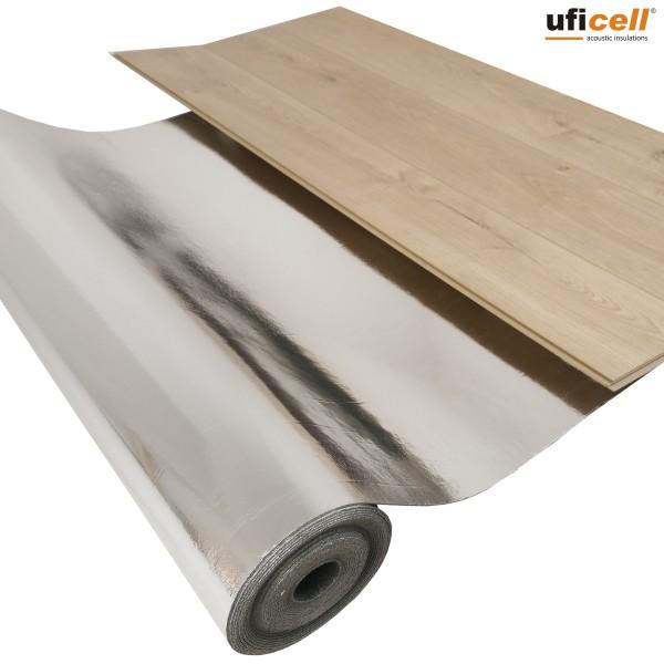 uficell® Silence Floor Akustik ALU - Trittschalldämmung mit Mineralsandfüllung