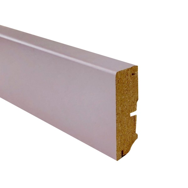 TRECOR® Sockelleiste Laminatsockelleiste Fußleiste Serie EXCLUSIV COLOR 16 x 58 mm, Pastellviolett