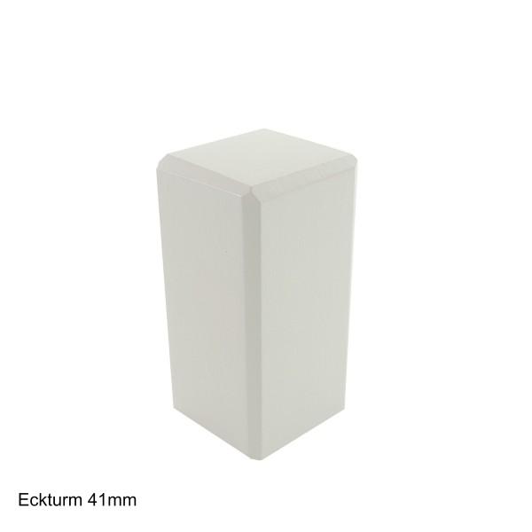 TRECOR® Weiße Holzecken | Ecktürme weiß für Trecor® Sockelleisten