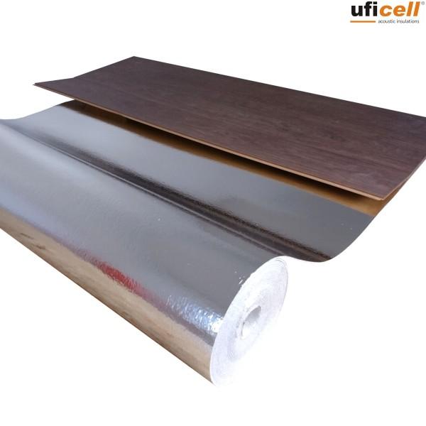 uficell® EPS-KOMBI Polystyrol Parkettunterlage mit DIN-Alu-Dampfbremse, Stärke: 3 mm
