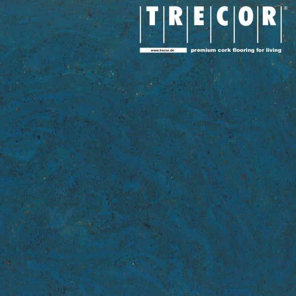 """TRECOR® Korkboden mit Klicksystem """"STILO"""" Korkfertigparkett - 10 mm Stark - Farbe: Signalblau"""