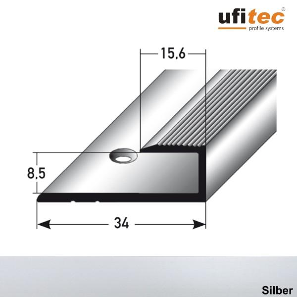 ufitec® Einschubprofile / Abschlussprofile - für Belagshöhen von 8,5 mm - Alu eloxiert