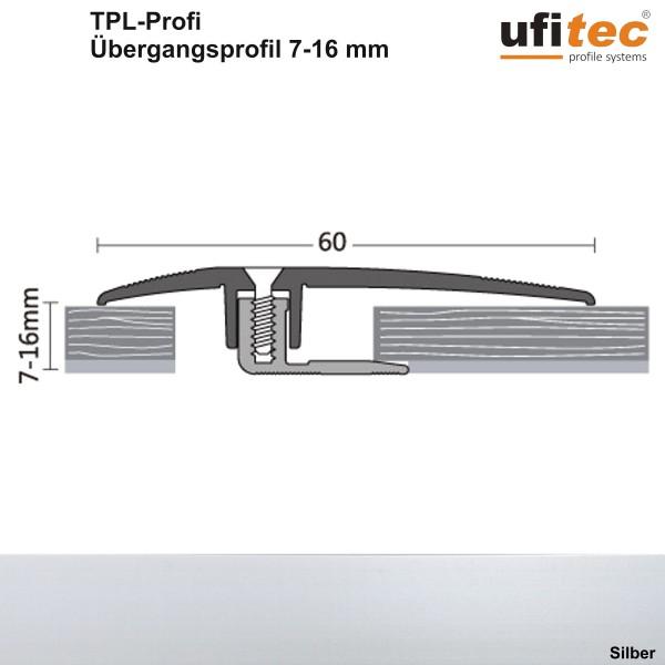 Dehnungsfugenprofil / Übergangsprofil ufitec® TPL Profi - für Belagshöhen von 7-16 mm, Breite: 60 mm