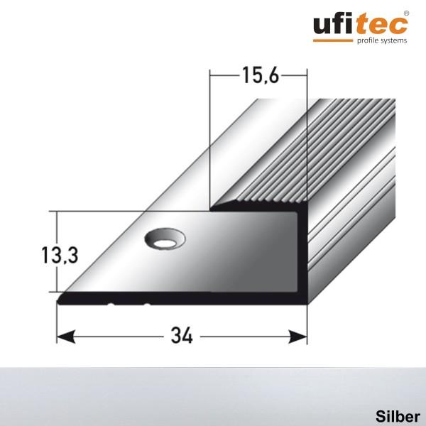 ufitec® Einschubprofile / Abschlussprofile - für Belagshöhen von 13,3 mm - Alu eloxiert