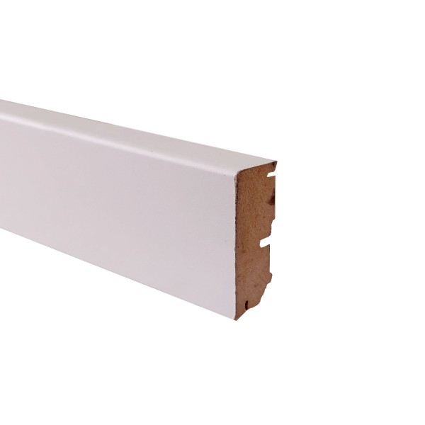 TRECOR® Sockelleiste Laminatsockelleiste Fußleiste Serie EXCLUSIV COLOR 16 x 58 mm, Lichtgrau