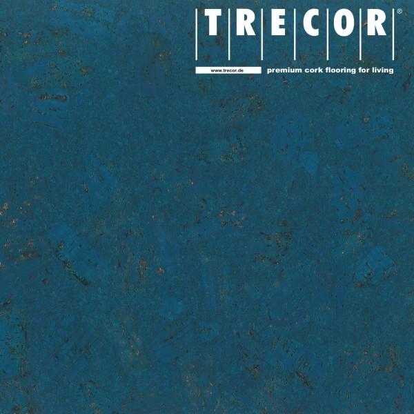 "Korkboden TRECOR® CLASSIC ""Klebekork ""FORTI"" Stärke: 4 mm, Oberfläche: ROH - Farbe: Signalblau"