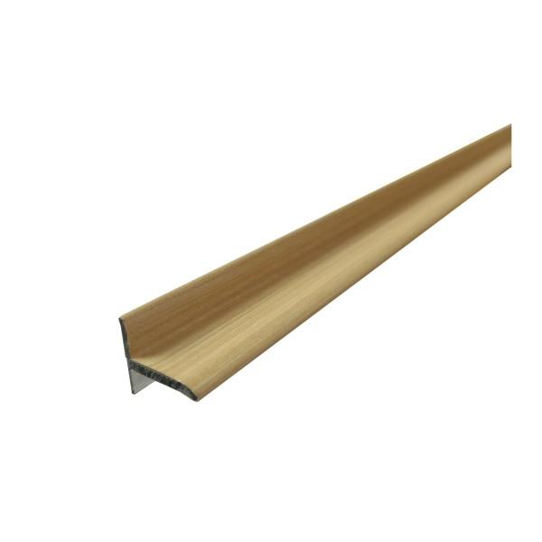 ufitec® Sockelprofil SK, Abschluss an Balkon- und Terassentüren, Dekor: Ahorn, Länge: 90 cm