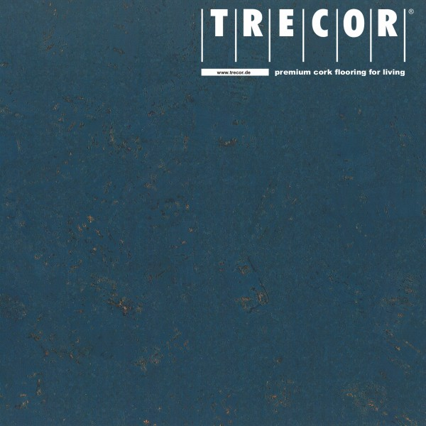 "TRECOR® Korkboden mit Klicksystem ""FORTI"" Korkfertigparkett - 10,5 mm Stark - Farbe: Violettblau"
