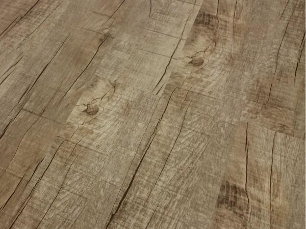 TRECOR® Vinylboden massiv zum Kleben - Eiche Old Rustik Landhausdiele - 2 mm Stark