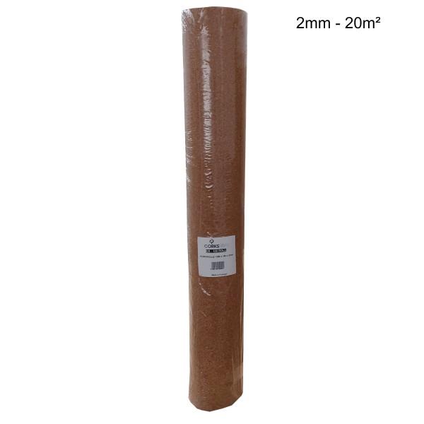 Rollenkork Kork Trittschalldämung Stärke: 2 mm, 20 qm Rolle - Rolle leicht beschädigt