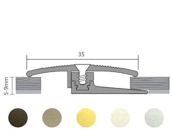 ufitec® TPL smart FLEX Übergangsprofil / Höhenanpassung für Belagshöhen von 5-9 mm