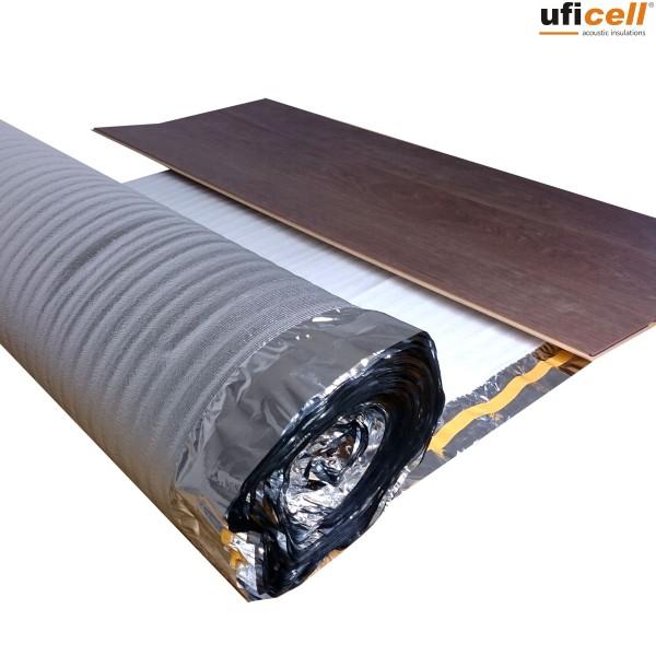 uficell® ALUPLUS | PE-Schaum Trittschalldämmung mit Alu-Kaschierung für Fußbodenheizung