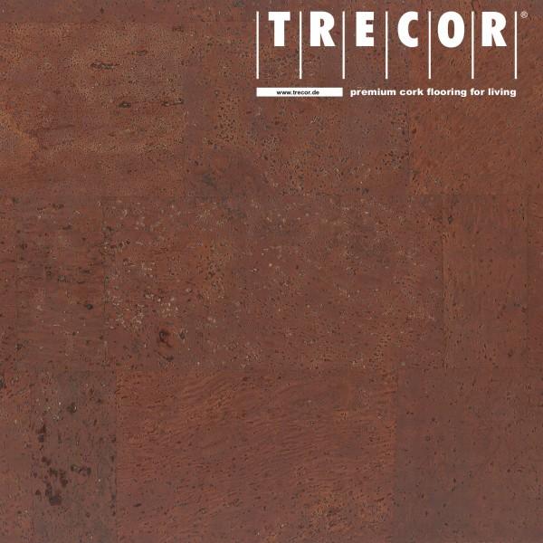 "Korkboden TRECOR® CLASSIC ""Klebekork ""MERIDA"" Stärke: 4 mm, Oberfläche: ROH - Farbe: Mahagonibraun"