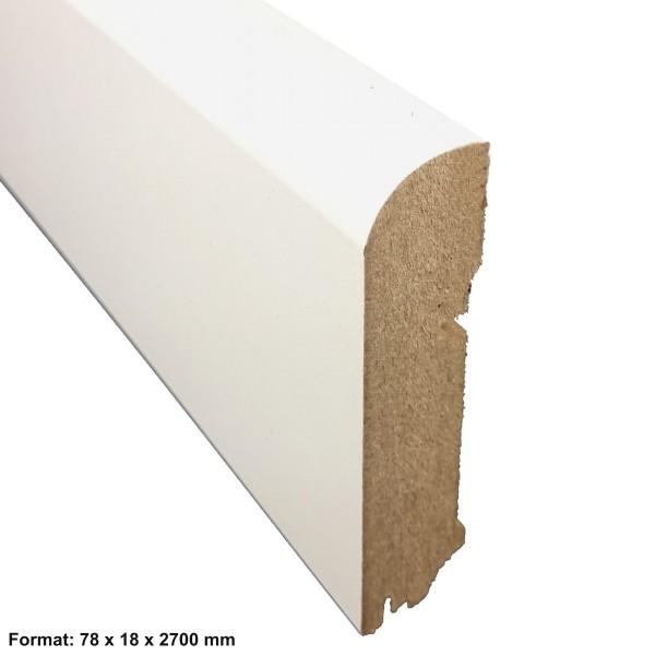 Trecor® Sockelleiste CLASSIC Nürnberger Profil, MDF, weiß