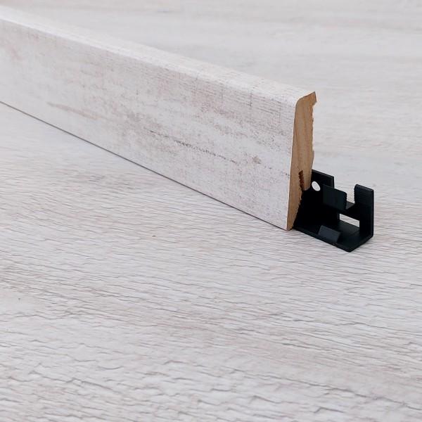 TRECOR® Laminatboden Sockelleiste - Stonebrush Oak - Material: MDF gerade Form