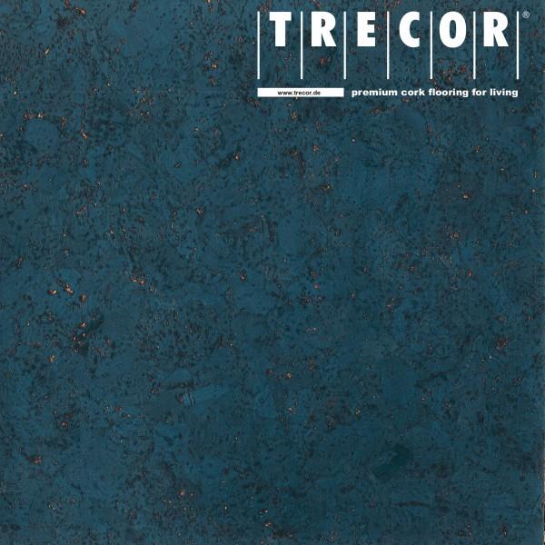 "TRECOR® Korkboden mit Klicksystem ""EVORA"" Korkfertigparkett - 10,5 mm Stark - Farbe: Violettblau"