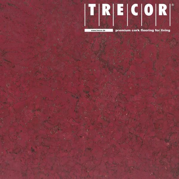 "Korkboden TRECOR® CLASSIC ""Klebekork ""FRAMENTO"" Stärke: 4 mm, Oberfläche: ROH - Farbe: Purpurrot"