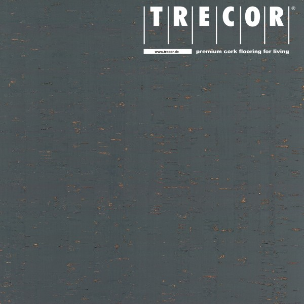 "TRECOR® Korkboden mit Klicksystem ""MAZARA"" Korkfertigparkett - 10,5 mm Stark - Farbe: Schiefergrau"