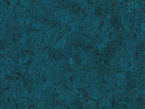 TRECOR® Korkboden mit Klicksystem EVORA Korkfertigparkett - 10,5 mm Stark - Farbe: Signalblau